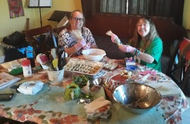 High Tea Prep Pam and Lynne Duffy 2019